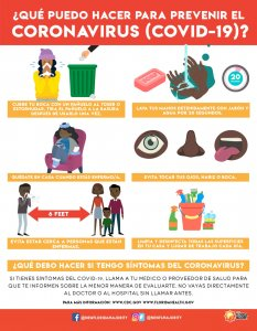 Corona Virus Infographic Spanish